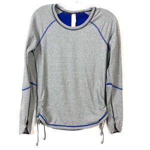 Lucy Tech Stripe Gray Long Sleeve